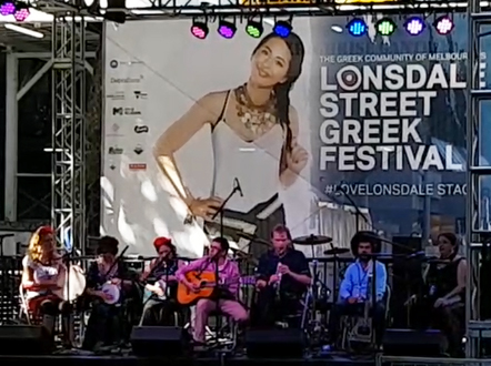 The Silk Roads Collective - 2019 at the Greek Festival on Lonsdale St, Melbourne