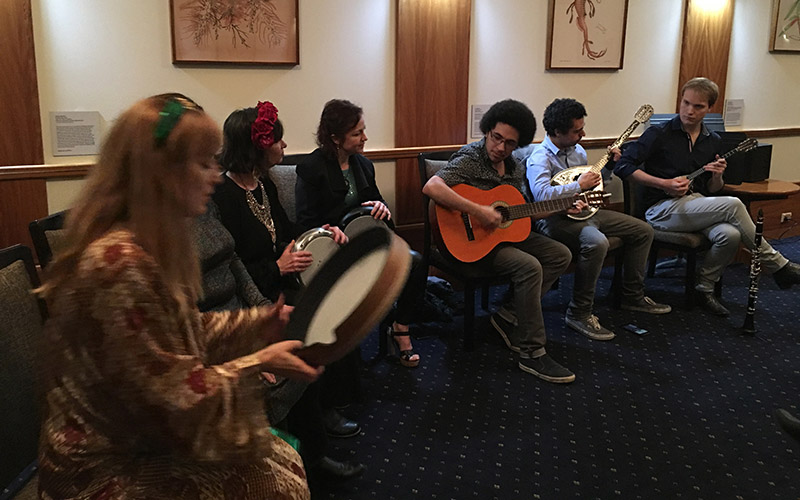 Silk Roads Collective performing at University of Melbourne July 2019
